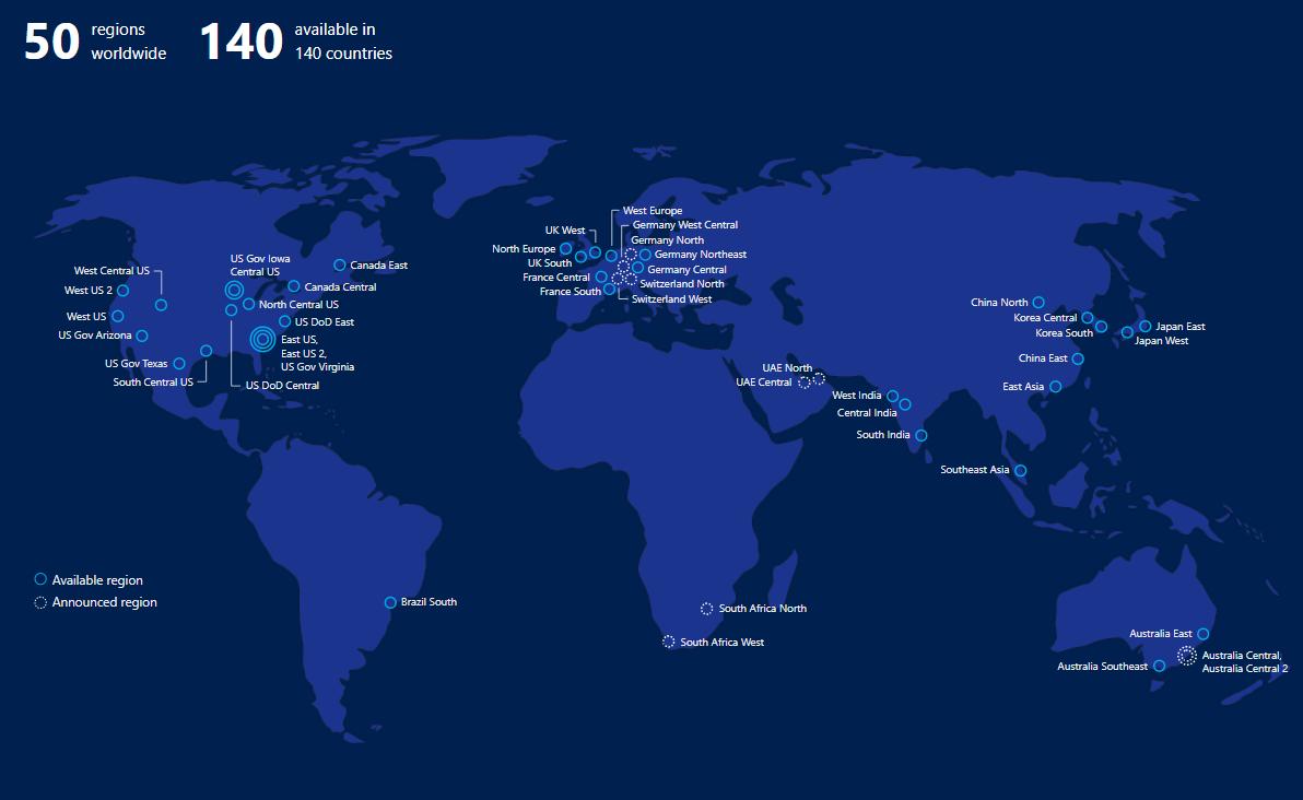 Azure-Regionen